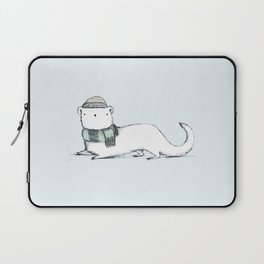 Ermine in Hat & Scarf Laptop Sleeve