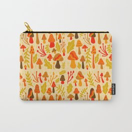 Spring Mushroom Print Carry-All Pouch