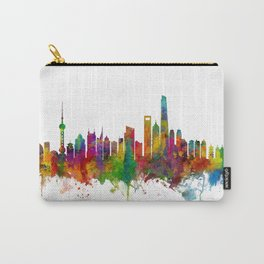 Shanghai China Skyline Carry-All Pouch