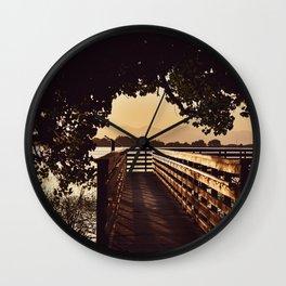 Colorado Pier Sunset Wall Clock