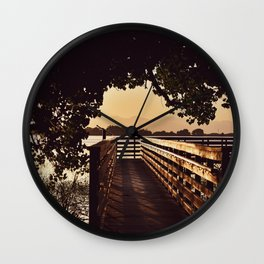 Colorado Pier Sunset Wall Clock