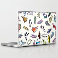 sneakers Laptop & iPad Skins featuring sneakers addiction by Federico Faggion
