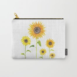 Sunflowers Watercolor Painting Carry-All Pouch