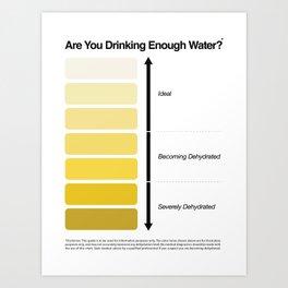 Pee Color Chart / Urine Color Chart Art Print