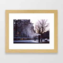 Winter morning in Amsterdam Framed Art Print