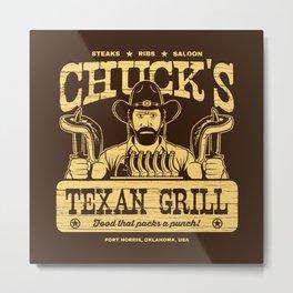 Chuck's Texan Grill Metal Print