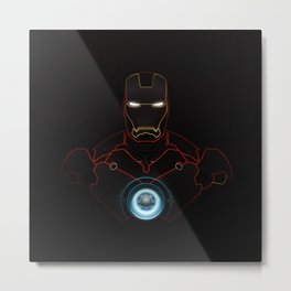 Ironman The Power Of Arc Reactor Metal Print
