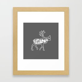 Eat Organic Framed Art Print