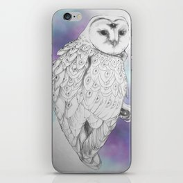 Owl with a third eye and crystal ball iPhone Skin