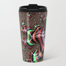 Striped Fractal Travel Mug