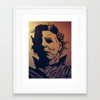 michael myers Framed Art Prints featuring Michael Myers by MSG Imaging