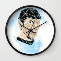 spock Wall Clocks featuring Spock by Josh Ln