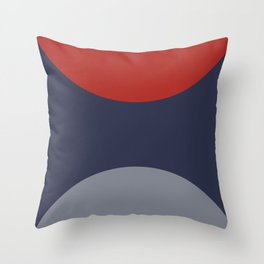 Six feet away : Red and Blue Throw Pillow