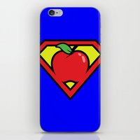 teacher iPhone & iPod Skins featuring Super Teacher by David Rodriguez Jr