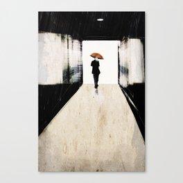 rain in the small town Canvas Print