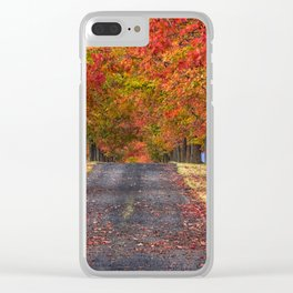 Greenbluff Autumn Clear iPhone Case