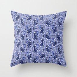 KyellBlue2...RainingPaisleys Throw Pillow