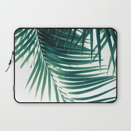 Palm Leaves Green Vibes #4 #tropical #decor #art #society6 Laptop Sleeve