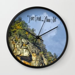"""How Great Thou Art"" Wall Clock"