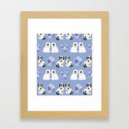 Staffordshire Dogs + Ginger Jars No. 1 Framed Art Print
