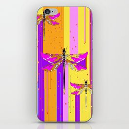 Purple-fuchsia  Dragonflies  Dreamscape Absract iPhone Skin