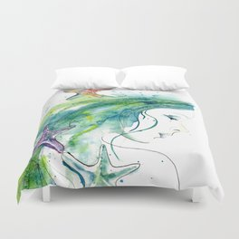 Whispers By The Sea Duvet Cover