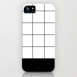 Scandi Grid Sq B iPhone Case