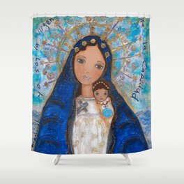 La Virgen de la Caridad del Cobre by Flor Larios Shower Curtain