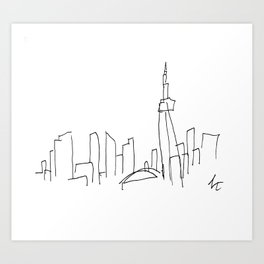 I Dream Of A Different Skyline Art Print