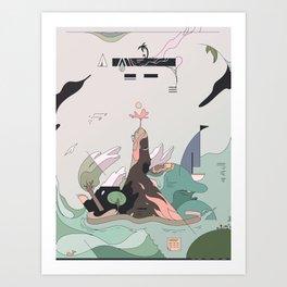Windy Island Art Print