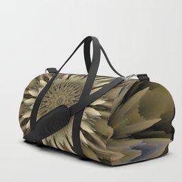 Waving 3D flower mandala Duffle Bag