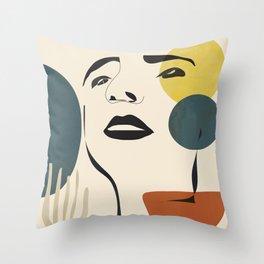 Abstract Face I Throw Pillow
