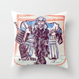 Playoff Beards Throw Pillow