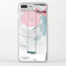 Swing in the Flower Tree Clear iPhone Case