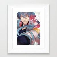 dramatical murder Framed Art Prints featuring DRAMAtical Murder: Aoba by magemg