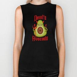 Avocado Funny Halloween Devil's Avocado Biker Tank