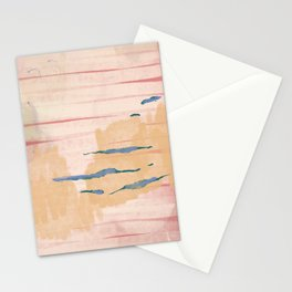peaceful peach mountain Stationery Cards