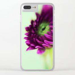 Dahlia Bud Clear iPhone Case