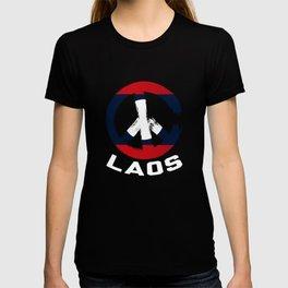 Laos Peace Sign Tee Shirt T-shirt