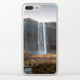 Seljalandsfoss Waterfall, Iceland Clear iPhone Case