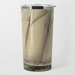 Vintage Schooner Yacht Illustration (1870) Travel Mug
