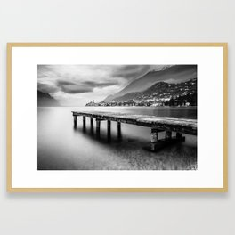 Sunset in Malcesine, Lake Garda Framed Art Print