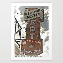 Providence Postcard Project: New York System, Olneyville Art Print