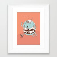 burger Framed Art Prints featuring Burger by BIGMOUTH