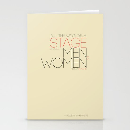 All The World's A Stage Stationery Cards