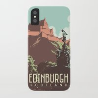 edinburgh iPhone & iPod Cases featuring Edinburgh by bonksy