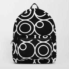 Circles - White on Black 1 Backpack