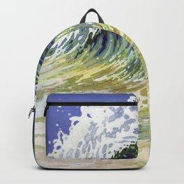 Surf's Up Big Wave Juul Art Backpack