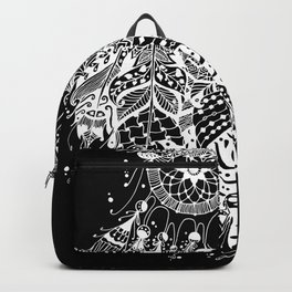 Dream Catcher on Black Backpack