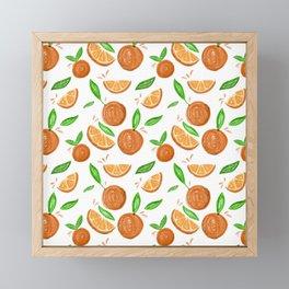 Happy Oranges Framed Mini Art Print